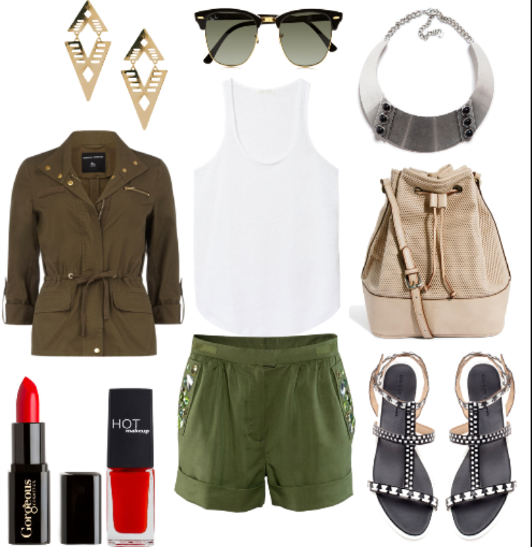 green-olive-shorts-white-cami-green-olive-jacket-utility-black-shoe-sandals-tan-bag-necklace-earrings-sun-nail-howtowear-fashion-style-outfit-spring-summer-lunch.jpg