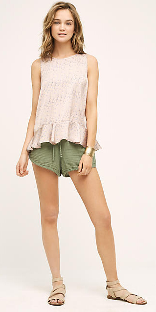 green-olive-shorts-r-pink-light-top-silk-bracelet-tan-shoe-sandals-howtowear-fashion-style-outfit-spring-summer-hairr-weekend.jpg