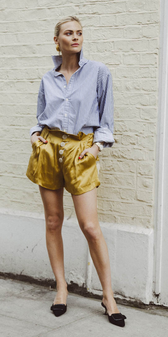 yellow-shorts-bun-blue-med-collared-shirt-spring-summer-blonde-lunch.jpg
