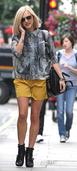 yellow-shorts-grayl-top-blouse-howtowear-fashion-style-outfit-spring-summer-fearnecotton-black-bag-black-shoe-booties-sun-print-blonde-lunch.jpg
