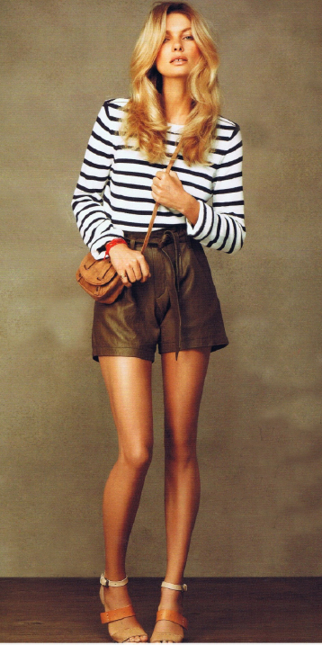 o-brown-shorts-black-sweater-stripe-cognac-bag-cognac-shoe-sandalh-bracelet-leather-howtowear-fashion-style-outfit-spring-summer-blonde-lunch.jpg