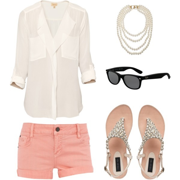 o-peach-shorts-white-collared-shirt-sun-pearl-necklace-white-shoe-sandals-howtowear-fashion-style-outfit-spring-summer-lunch.jpg