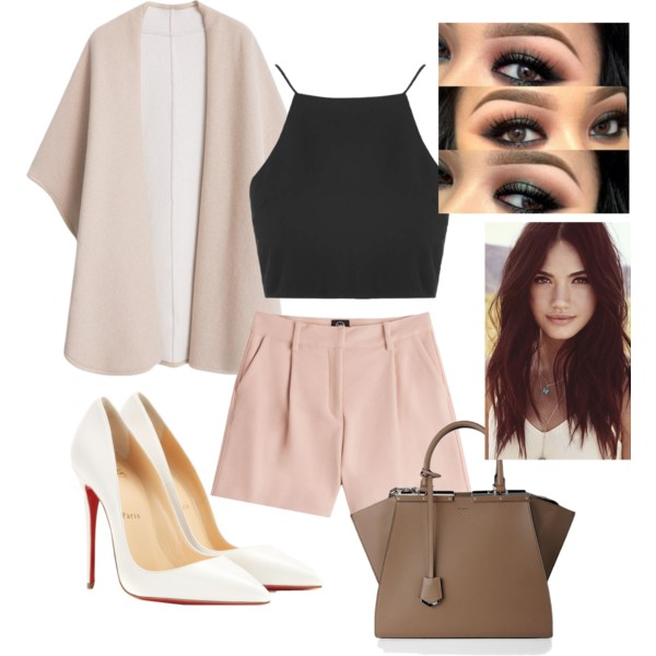 o-tan-shorts-black-top-crop-tan-cardiganl-white-shoe-pumps-nude-tailored-howtowear-fashion-style-outfit-spring-summer-dinner.jpg