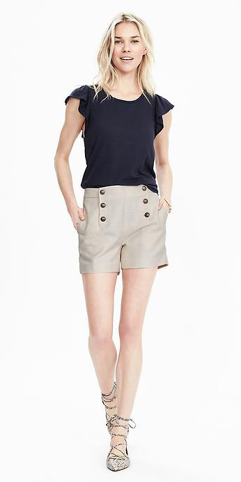 o-tan-shorts-black-top-howtowear-fashion-style-outfit-spring-summer-white-shoe-pumps-sailor-button-blonde-lunch.jpg
