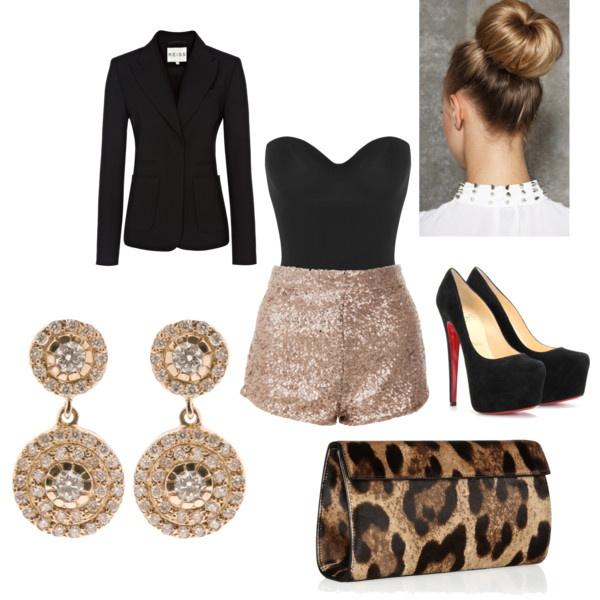 o-tan-shorts-black-top-bustier-black-jacket-blazer-newyearseve-black-shoe-pumps-earrings-tan-bag-clutch-leopard-bun-howtowear-fashion-style-outfit-fall-winter-holiday-dinner.jpg