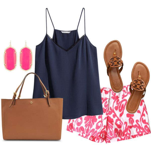 r-pink-magenta-shorts-print-blue-navy-cami-earrings-cognac-bag-cognac-shoe-sandals-howtowear-fashion-style-outfit-spring-summer-weekend.jpg