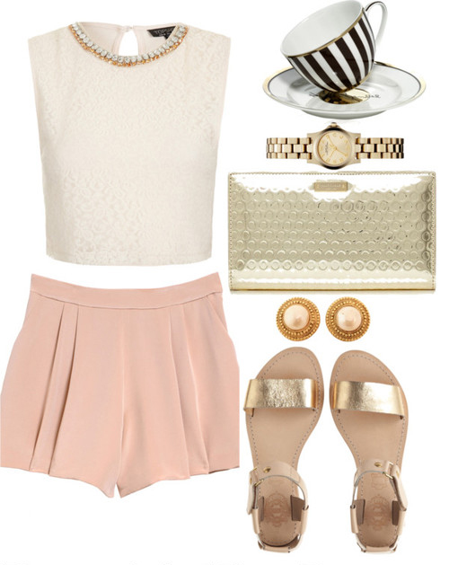 r-pink-light-shorts-white-top-tan-shoe-sandals-studs-tan-bag-clutch-watch-howtowear-fashion-style-outfit-spring-summer-lunch.jpg