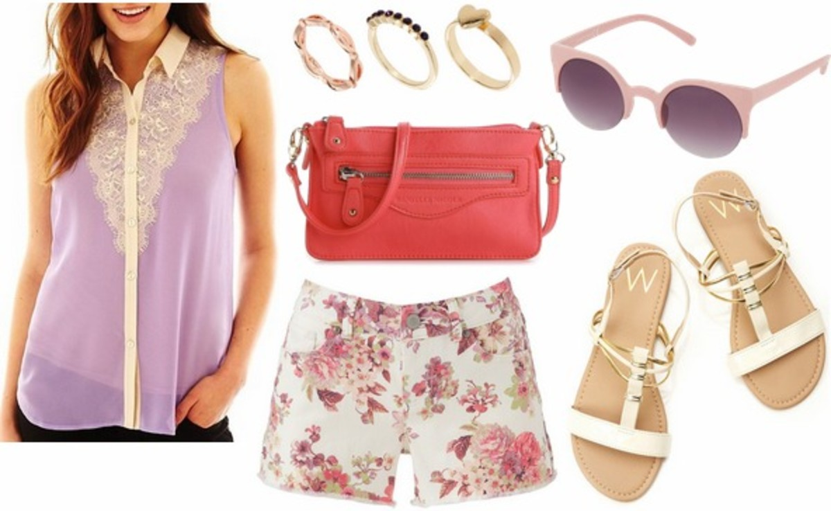 r-pink-light-shorts-purple-light-top-blouse-pink-bag-sun-print-lace-floral-white-shoe-sandals-howtowear-fashion-style-outfit-spring-summer-weekend.jpg