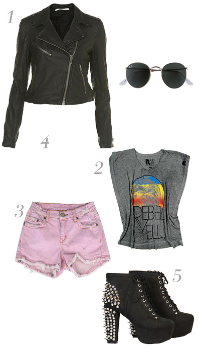 r-pink-light-shorts-grayd-graphic-tee-sun-black-jacket-moto-howtowear-style-outfit-fall-winter-black-shoe-booties-denim-lunch.jpg