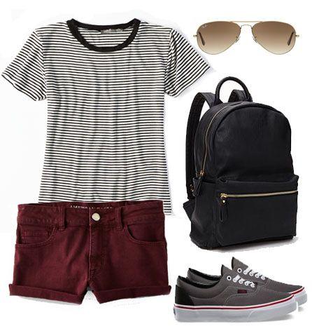 r-burgundy-shorts-black-tee-stripe-denim-black-shoe-sneakers-black-bag-pack-sun-howtowear-fashion-style-outfit-spring-summer-weekend.jpg