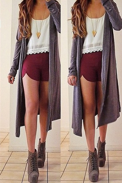 r-burgundy-shorts-white-cami-necklace-pend-grayd-cardiganl-gray-shoe-booties-howtowear-fashion-style-outfit-hairr-fall-winter-weekend.jpg