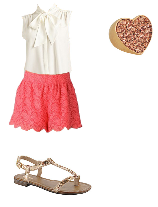 red-shorts-white-top-blouse-bow-lace-ring-tan-shoe-sandals-howtowear-fashion-style-outfit-spring-summer-weekend.jpg