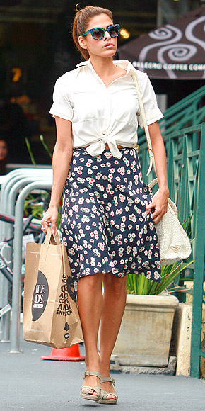 blue-navy-aline-skirt-white-collared-shirt-sun-pony-wear-style-fashion-spring-summer-evamendes-celebrity-floral-tieshirt-wedge-tan-shoe-sandalw-street-outfit-hairr-weekend.jpg