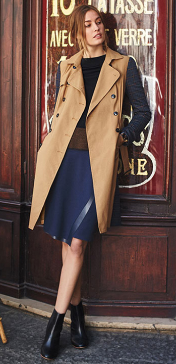blue-navy-aline-skirt-black-tee-pony-camel-vest-trench-wear-style-fashion-fall-winter-black-shoe-booties-hairr-lunch.jpg
