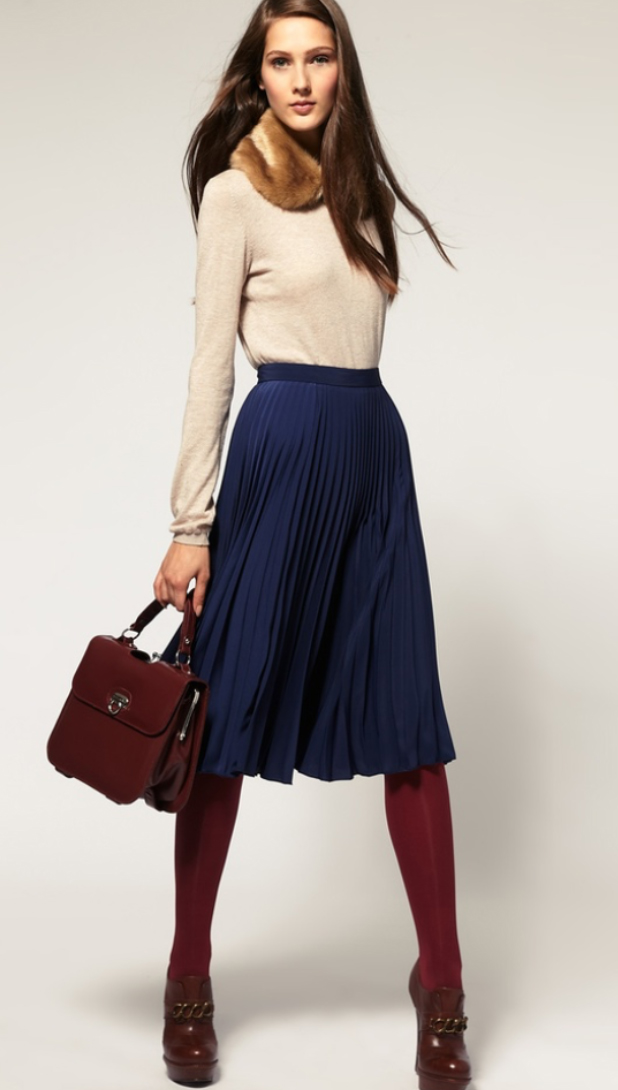 blue-navy-aline-skirt-o-tan-sweater-tan-scarf-stole-fur-burgundy-bag-brown-shoe-booties-wear-style-fashion-fall-winter-burgundy-tights-office-hairr-work.jpg