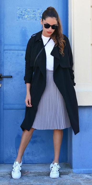 pink-light-aline-skirt-white-tee-hairr-sun-pony-black-jacket-coat-trench-white-shoe-sneakers-spring-summer-weekend.jpg