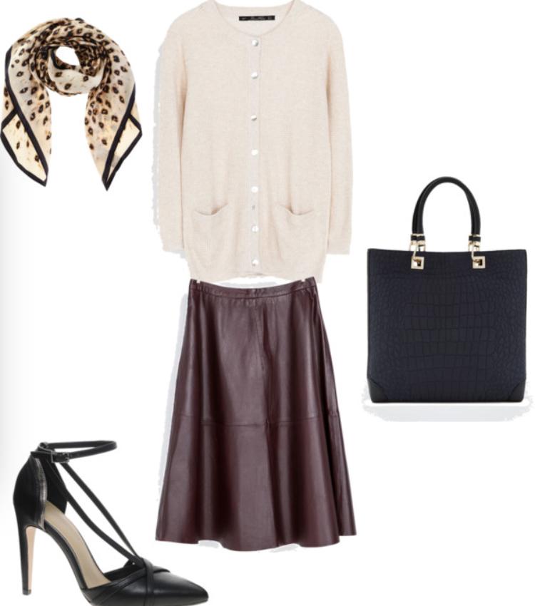 r-burgundy-aline-skirt-white-cardigan-black-bag-tote-wear-style-fashion-fall-winter-leather-black-shoe-pumps-tan-scarf-work.jpg