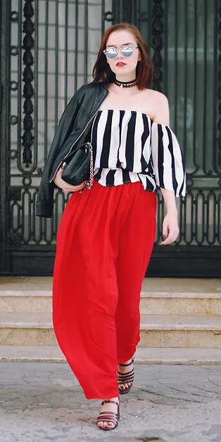 white-top-offshoulder-vertical-stripe-choker-lob-sun-black-bag-black-jacket-moto-red-maxi-skirt-fall-winter-lunch.jpg