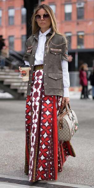 red-maxi-skirt-print-white-collared-shirt-brown-jacket-utility-tan-bag-sun-hairr-spring-summer-lunch.jpg