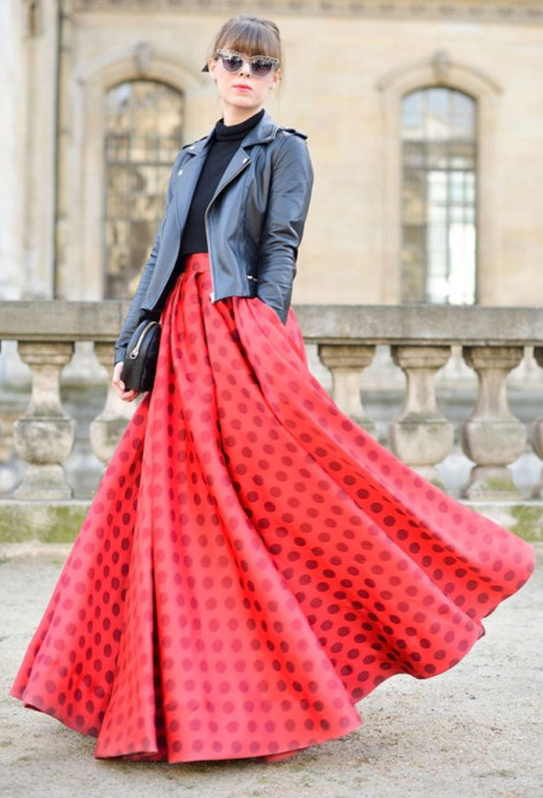 black-crop-top-hair-bun-sun-black-jacket-moto-red-maxi-skirt-fall-winter-dinner.jpg
