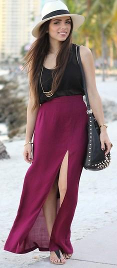 black-cami-brun-hat-panama-black-bag-necklace-pend-slit-burgundy-maxi-skirt-spring-summer-weekend.jpg