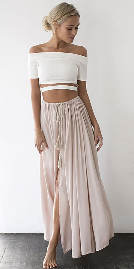 white-crop-top-offshoulder-blonde-bun-pink-light-maxi-skirt-spring-summer-dinner.jpg