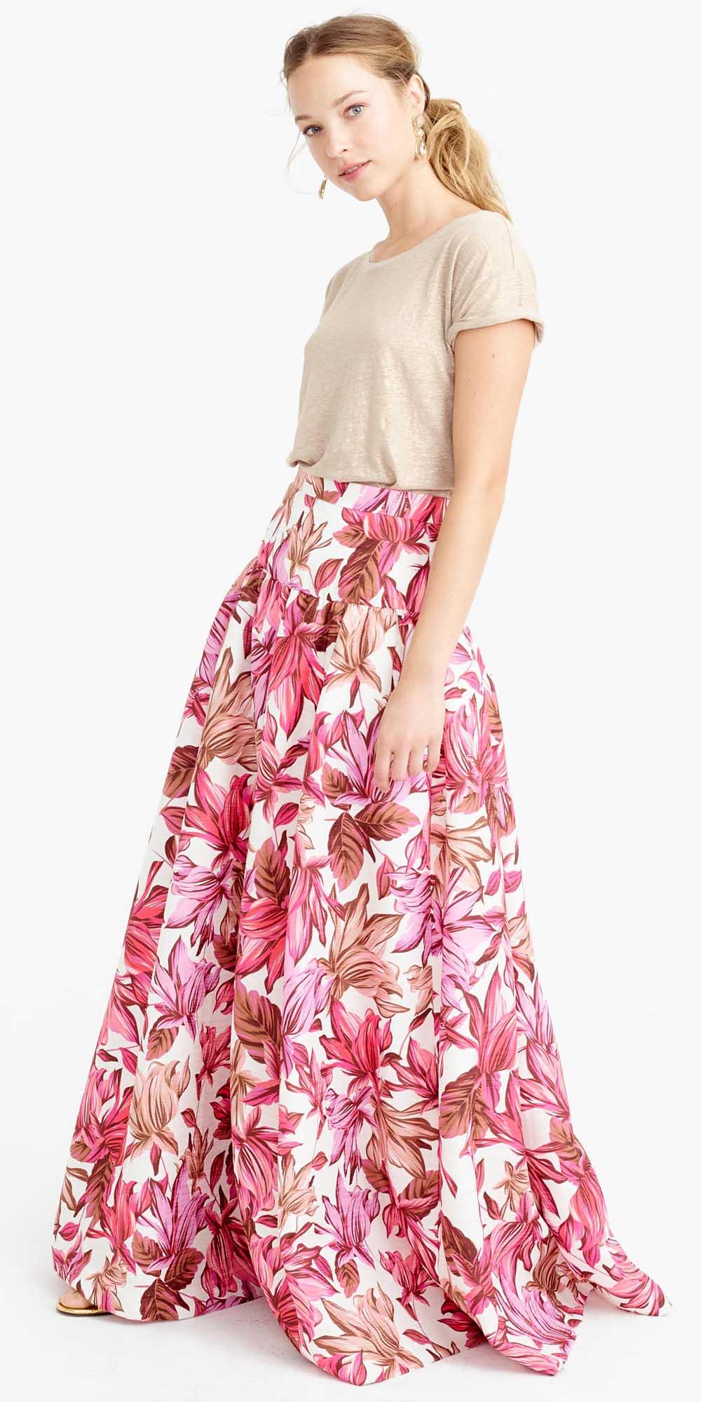 tan-tee-print-jcrew-blonde-pony-pink-magenta-maxi-skirt-spring-summer-dinner.jpg