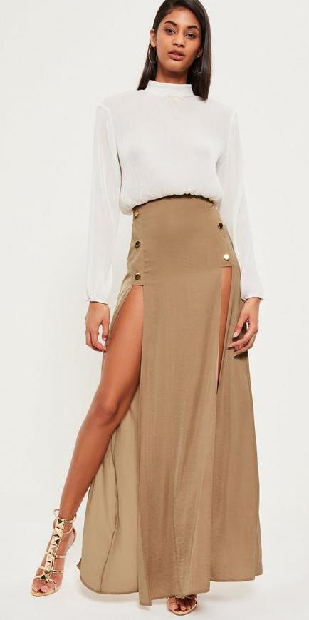white-top-blouse-brun-slit-tan-shoe-sandalh-gold-tan-maxi-skirt-fall-winter-dinner.jpg