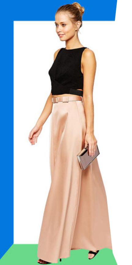 black-crop-top-blonde-bun-silk-peach-maxi-skirt-spring-summer-dinner.jpg