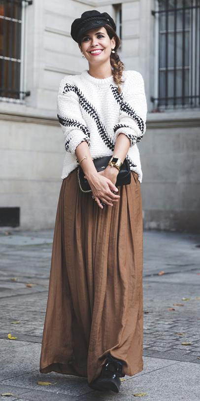 camel-maxi-skirt-white-sweater-hat-braid-studs-hairr-black-bag-black-shoe-booties-fall-winter-lunch.jpg