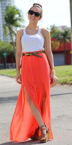 white-tank-sun-bun-belt-cognac-shoe-sandalw-hairr-orange-maxi-skirt-spring-summer-lunch.jpg