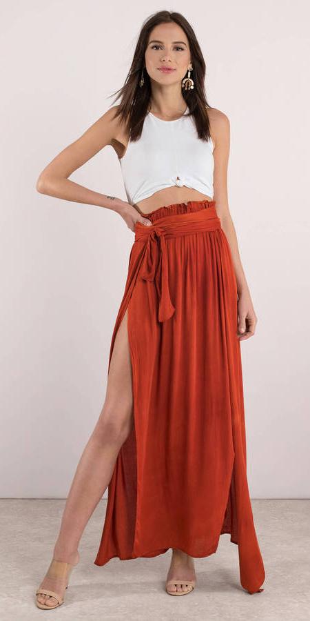 white-crop-top-earrings-hairr-tan-shoe-sandalh-slit-orange-maxi-skirt-spring-summer-dinner.jpg