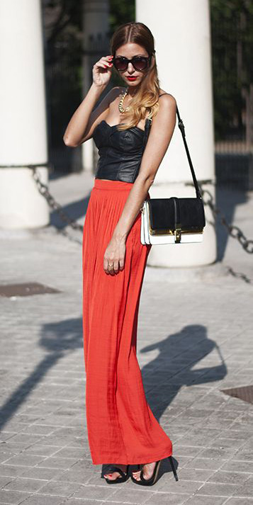 black-crop-top-sun-hairr-black-bag-black-shoe-sandalh-orange-maxi-skirt-spring-summer-dinner.jpg