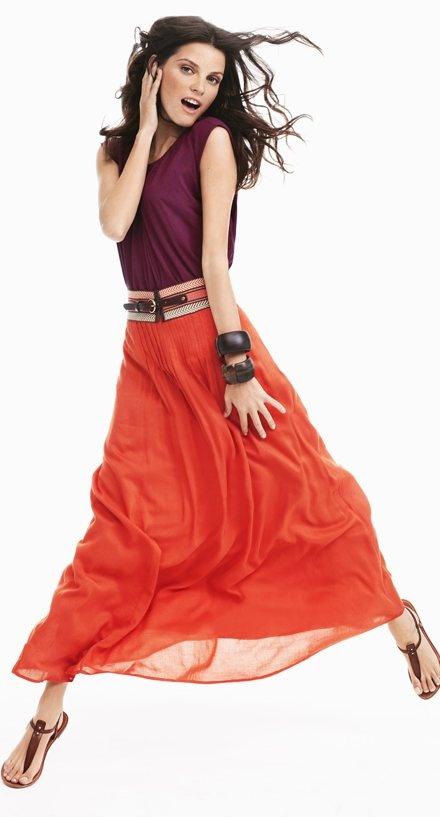 purple-royal-tee-wide-belt-bracelet-hairr-brown-shoe-sandals-orange-maxi-skirt-spring-summer-lunch.jpg