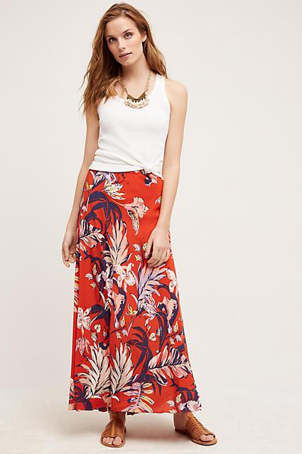 920f7d257 orange-maxi-skirt-white-top-tank-bib-necklace-