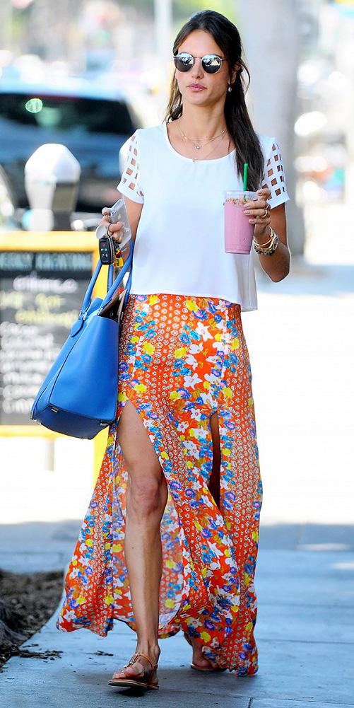 white-top-hairr-sun-blue-bag-floral-print-orange-maxi-skirt-spring-summer-weekend.jpg