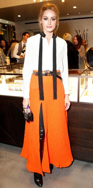 orange-maxi-skirt-white-top-blouse-peasant-bun-hairr-black-shoe-boots-otk-fall-winter-dinner.jpg