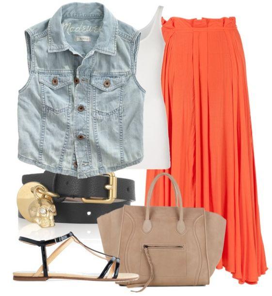 orange-maxi-skirt-white-tank-tan-bag-black-shoe-sandals-belt-blue-light-vest-jean-spring-summer-weekend.jpg