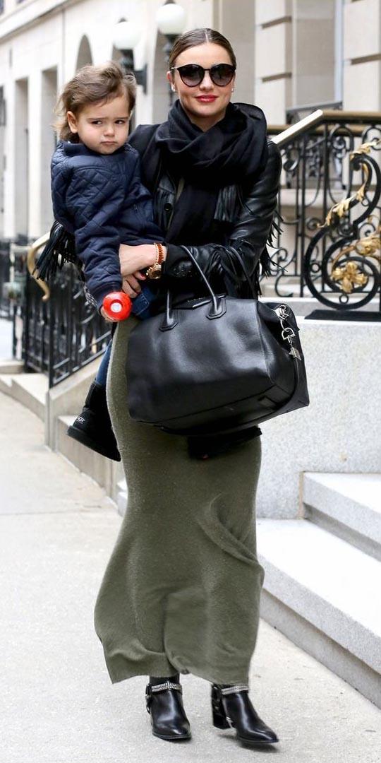 black-jacket-moto-black-scarf-sun-bun-hairr-mirandakerr-black-bag-black-shoe-booties-green-olive-maxi-skirt-fall-winter-lunch.jpg