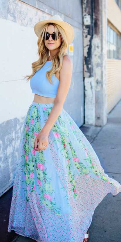 blue-light-maxi-skirt-floral-print-blue-light-crop-top-blonde-sun-hat-straw-spring-summer-lunch.jpg