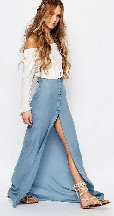blue-light-maxi-skirt-white-top-offshoulder-white-shoe-sandals-hairr-spring-summer-weekend.jpg