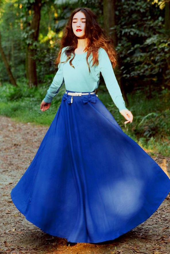 blue-light-sweater-skinny-belt-hairr-cobalt-blue-med-maxi-skirt-fall-winter-lunch.jpg