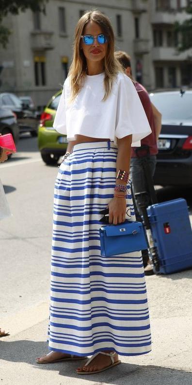 white-crop-top-stripe-blue-bag-sun-blonde-white-shoe-sandals-blue-med-maxi-skirt-spring-summer-lunch.jpg