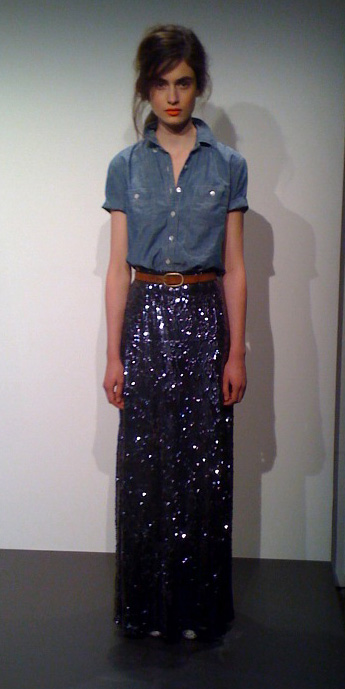 blue-navy-maxi-skirt-sequin-belt-blue-med-collared-shirt-hairr-fall-winter-lunch.jpeg