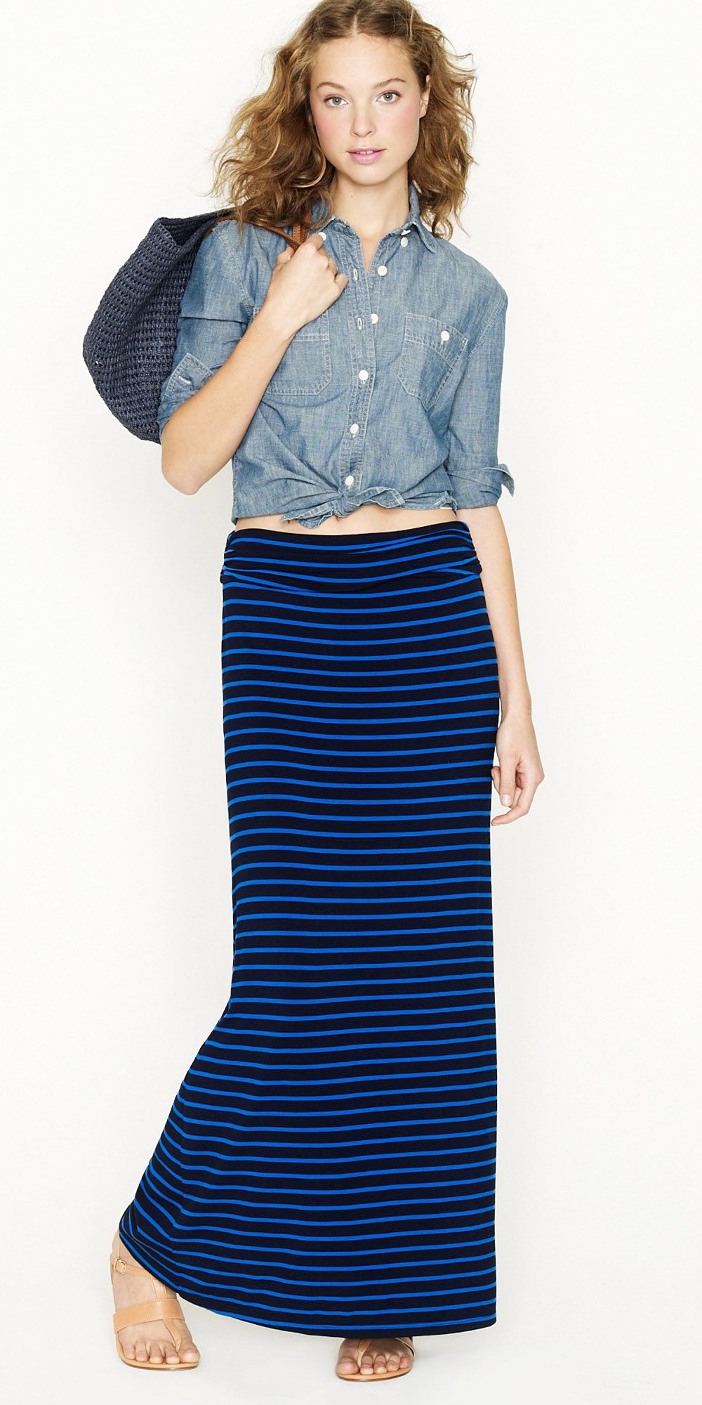 blue-navy-maxi-skirt-stripe-blue-med-collared-shirt-jcrew-hairr-spring-summer-weekend.jpeg