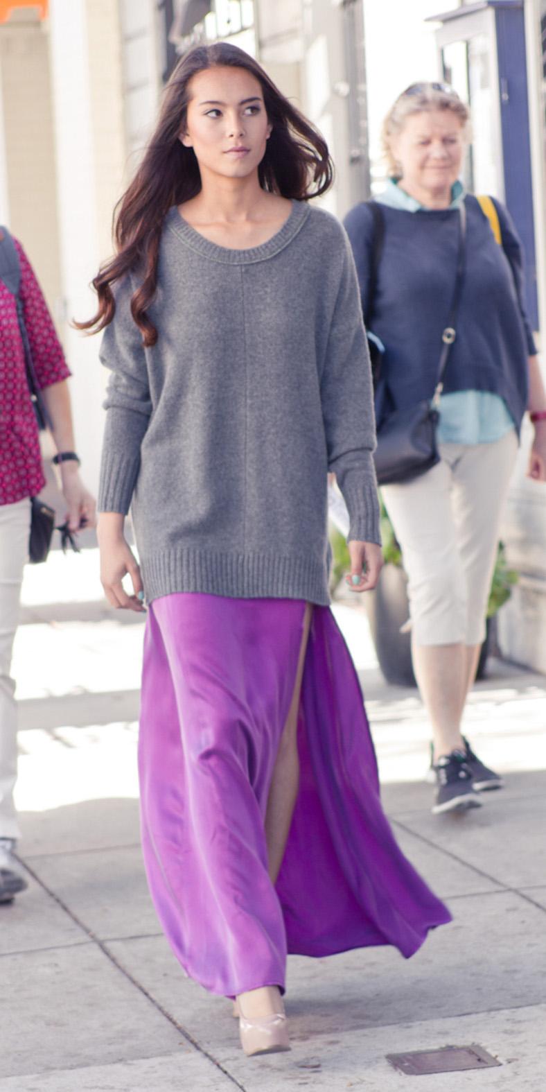 purple-royal-maxi-skirt-grayl-sweater-fall-winter-brun-lunch.jpg