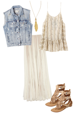 white-maxi-skirt-white-cami-print-necklace-pend-blue-light-vest-jean-tan-shoe-sandals-howtowear-spring-summer-fashion-style-outfit-weekend.jpg