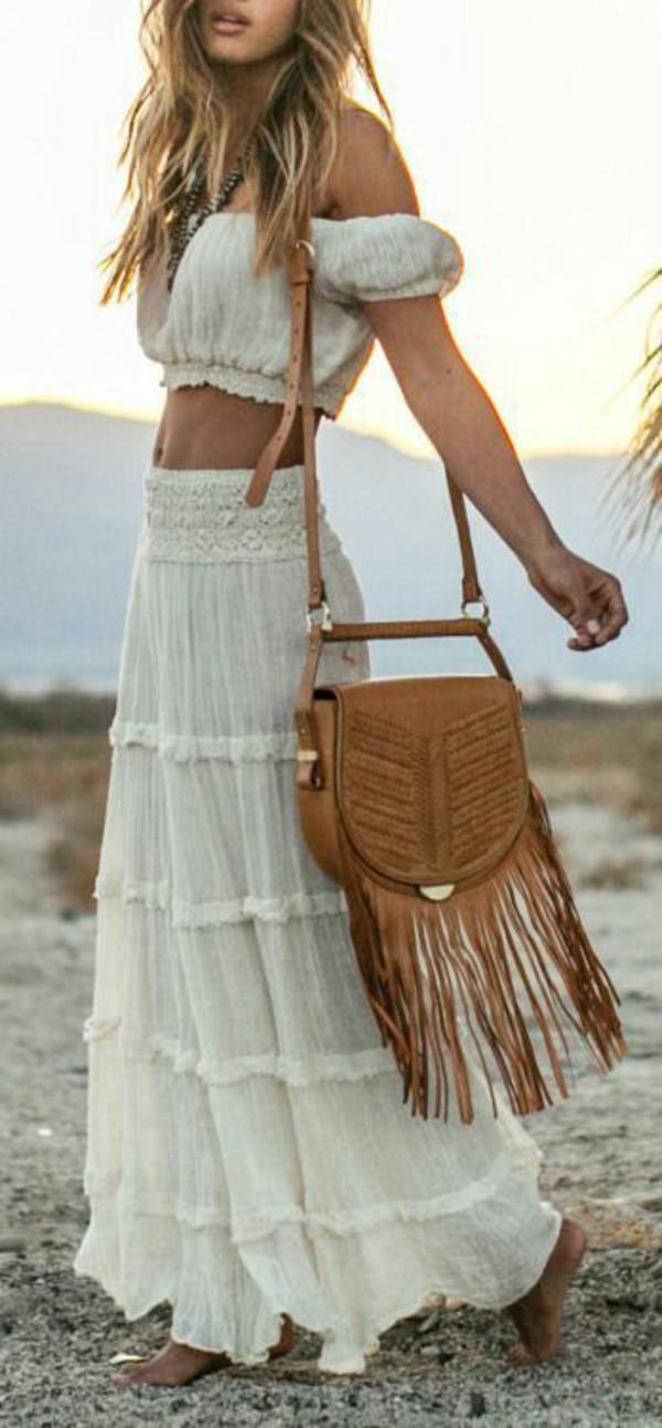 d2daccdb9 white-maxi-skirt-white-top-offshoulder-cognac-bag-