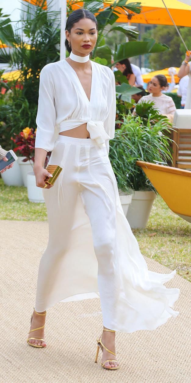 white-crop-top-choker-brun-bun-yellow-shoe-sandalh-mono-chaneliman-white-maxi-skirt-spring-summer-dinner.jpg