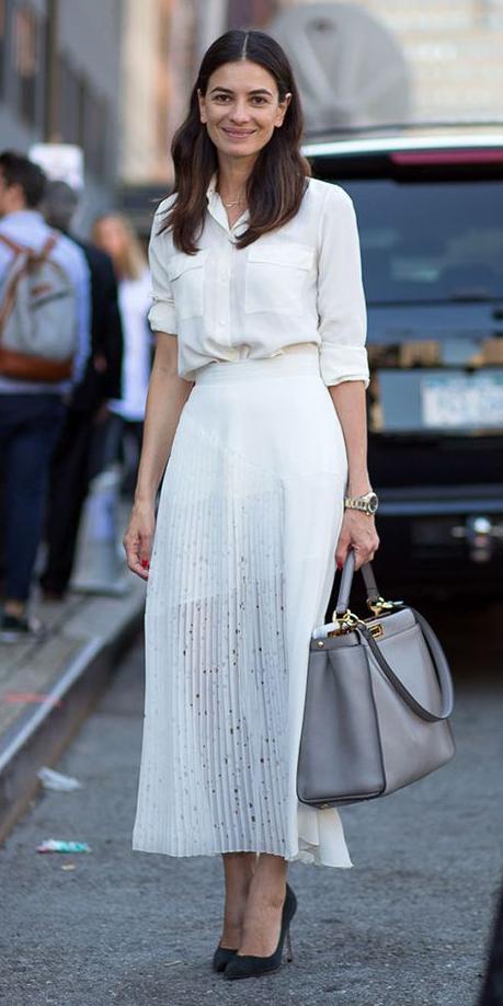 white-collared-shirt-brun-black-shoe-pumps-gray-bag-tote-white-maxi-skirt-spring-summer-work.jpg